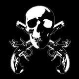 Gekreuzte Knochen mit Gewehren Lizenzfreie Stockbilder