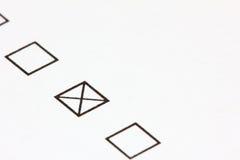 Gekreuzter Checkbox Lizenzfreie Stockbilder
