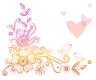 Gekritzel-Blumen Lizenzfreies Stockbild