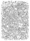 Gekritzel der Karikatur nette Hand gezeichnete Sportillustration Lizenzfreies Stockfoto