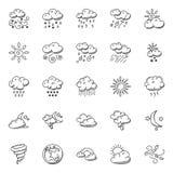 Gekritzel eingestellt vom Wetter Stockbilder