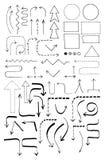 Gekritzel-Flussdiagramm-Satz Lizenzfreie Stockfotos