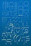 Gekritzel-Flussdiagramm-Satz Stockfotografie