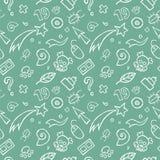 Gekritzel-kindisches nahtloses Muster Stockbild