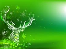 Gekritzel-Rotwild Auch im corel abgehobenen Betrag Grußkarte für Weihnachten Stockbild
