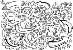 Gekritzel-Skizze-Zeichnungs-Vektor Stockbild