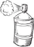 Gekritzel-Spray-Dosen-Vektor Stockbilder