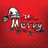 Gekritzel-Weihnachten Lizenzfreies Stockbild