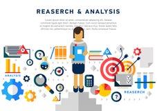 Gekritzelartkonzept der allgemeinen Forschung stock abbildung