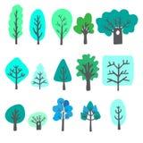 Gekritzelbäume Lizenzfreies Stockbild