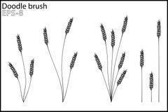 Gekritzelbürste das Gras und die Büsche Lizenzfreie Stockfotografie