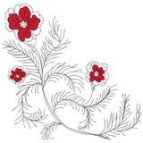 Gekritzelblumen Lizenzfreies Stockbild