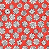 Gekritzelblumenmuster Stockbild