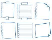 Gekritzeldesign für leere Papiere Lizenzfreie Stockbilder