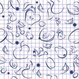 Gekritzelfruchthintergrund vektor abbildung