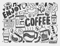 Gekritzelkaffee Lizenzfreie Stockbilder