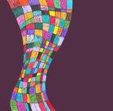 Gekritzelmarkierung, die abstraktes Hintergrunddesign zeichnet Lizenzfreie Stockfotos