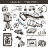 Gekritzelphotographiesatz Stockbilder