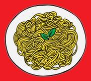 Gekritzelspaghetti-Handzeichnung Lizenzfreie Stockfotografie