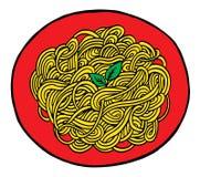 Gekritzelspaghetti-Handzeichnung Lizenzfreies Stockbild