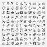 Gekritzelspielzeugikonen lizenzfreie abbildung