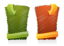 Gekritzelte Web-Artelemente - Bekanntmachen der Fahne Lizenzfreies Stockbild