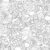 Gekritzelvektorillustration, abstrakter Hintergrund Stockfoto