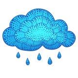 Gekritzelwolke und -regen Stock Abbildung