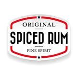Gekruide Rum uitstekende zegel Royalty-vrije Stock Afbeeldingen