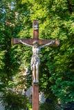 Gekruisigd standbeeld van Jesus Christ Royalty-vrije Stock Foto's