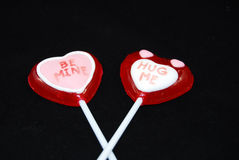 Gekruist valentijnskaartensuikergoed Stock Foto