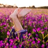 Gekruiste benen Stock Fotografie