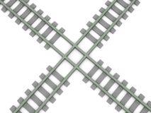Gekruiste spoorweg Royalty-vrije Stock Afbeelding