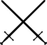 Gekruiste zwaarden stock illustratie