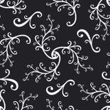 Gekruld naadloos herhaalt patroon royalty-vrije illustratie