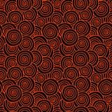 Gekruld Rood Haar Naadloos Patroon vector illustratie