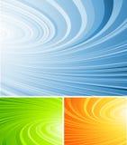 Gekrulde abstracte vector Royalty-vrije Stock Fotografie