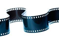 Gekrulde film op wit Stock Afbeelding