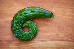 Gekrulde Komkommer Stock Foto