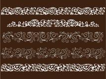 Gekrulde patronen Stock Afbeeldingen