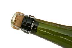 Gekurkte fles Champagne Stock Foto