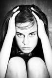 Gekwelde vrouw Stock Foto
