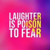 Gelächter ist das Gift, zum sich zu fürchten Lebenzitat mit modernem Hintergrundvektor stock abbildung