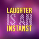 Gelächter ist ein Augenblick Lebenzitat mit modernem Hintergrundvektor stock abbildung