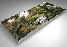 Geländeabschnitt, Canazei, Val di Fassa, Trentino Alto Adige, Italien Berge und Hügel, Spitzen der Dolomit, Sassolungo lizenzfreie abbildung