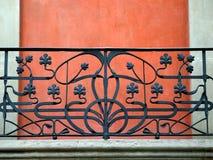 Geländer auf Balkon Lizenzfreies Stockbild