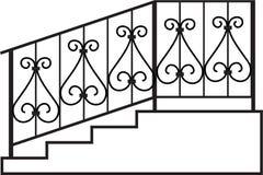 Geländer des bearbeiteten Eisens Stockbilder