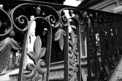 Geländer in Monforte-Gärten Stockfotos