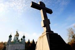 Geläufiges russisches Grab Stockfotos