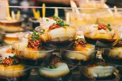 Gelée chinoise de goût, pousses de haricot photos stock